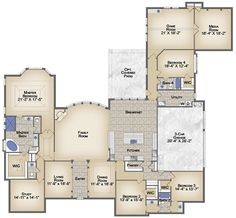 Dream Homes: luxury residences House Plans One Story, Dream House Plans, Story House, House Floor Plans, My Dream Home, Dream Homes, Huge Mansions, Mansions Homes, Building Plans
