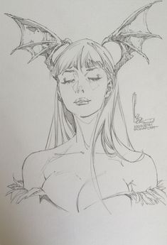 Darkstalkers - Morrigan by Kenneth Rocafort *