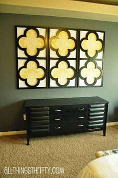 Tutorial: Quatrefoil DIY Decorative Wall Art  to use in new house if we need cheap wall art