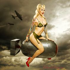 Bombs away...  Amazing Inked Girls ... follow me on twitter for more pics like this @tonygqusa ... i follow back