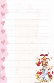 Papéis de Carta e Envelopes - Papel de Carta e Envelope - Papel de Carta e Envelope para imprimir: Sarah Kay Sarah Key, Hobbies And Crafts, Diy And Crafts, Lined Writing Paper, Writing Papers, Homemade Journal, Envelopes, Printable Lined Paper, Craft Images