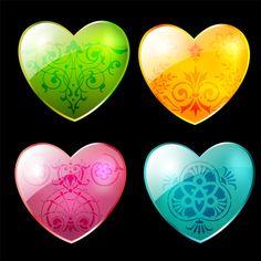 heart shape decor swirl
