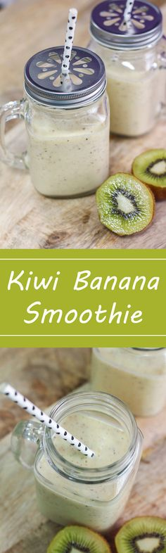 This Kiwi and Banana Smoothie is really simple, delicious and truly healthy.