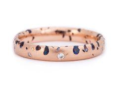 Slim Blue Sapphire & Diamond Constellation Ring 18R web