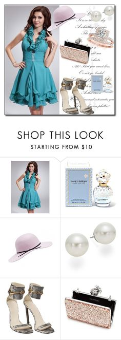"""Blue Dress"" by ruza66-c ❤ liked on Polyvore featuring Marc Jacobs, AK Anne Klein, Gucci, Miss Selfridge and Allurez"