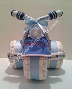 Unique diaper cakes, baby shower centerpieces, table decorations, favors, newborn gifts