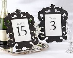 Baroque Openwork Table Number (Sets of 15) from Wedding Favors Unlimited