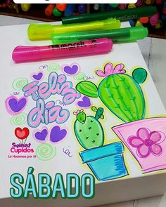 Diy Birthday, Birthday Cards, Cactus Pictures, Drawing School, Cactus Painting, Bullet Journal School, Bff Gifts, Loom Beading, Paper Art