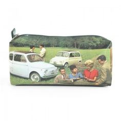 PVC pencase inspirated by vintage photos of FIAT 500 lifestyle.