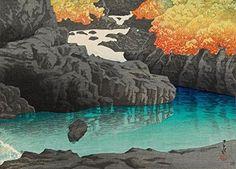 "Japanese Art Print ""The Kayagafuchi Rapids in Nagato Gorge"" by Kawase Hasui. Shin Hanga and Art Reproductions http://www.amazon.com/dp/B00VB5J3IS/ref=cm_sw_r_pi_dp_ukQvwb182EBDQ"