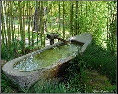 Outdoor stone tub so cool if there was a way to make this heated for a stone Jacuzzi type thing Outdoor Tub, Outdoor Baths, Outdoor Stone, Outdoor Bathrooms, Outdoor Rooms, Outdoor Gardens, Outdoor Living, Outdoor Decor, Outdoor Showers