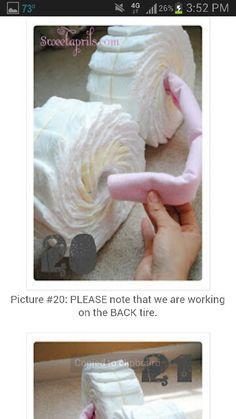 Elephant motorcycle diaper cake
