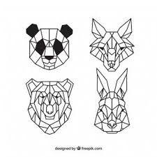 Resultado De Imagen Para Animales Dibujados Con Figuras Geometricas Leon Imagenes Con Figuras Geometricas Figuras Geometricas Dibujo Geometrico