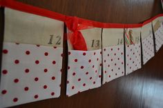 Christmas Advent Pocket Bunting