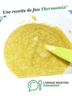 """""""Courgette, carotte , riz, poulet"""" pour bébé par louloute54. Une recette de fan à retrouver dans la catégorie Alimentation pour nourrissons sur www.espace-recettes.fr, de Thermomix<sup>®</sup>."""