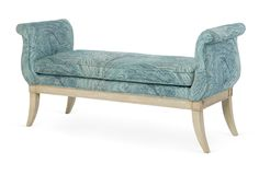 One Kings Lane - From Pearson - Louis Bench, Blue/Multi Living Room Sofa Design, Bedroom Bed Design, Living Room Colors, Living Room Designs, Bench Furniture, Upholstered Furniture, Furniture Decor, Furniture Design, Fainting Couch