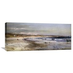 """Global Gallery 'Along the Coast' by Edmund Darch Lewis Painting Print on Wrapped Canvas Size: 15.84"""" H x 36"""" W x 1.5"""" D"""