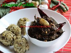Gongura pachadi/chutney Chutneys, Indian Food Recipes, Dips, Oatmeal, Vegetarian, Breakfast, Kitchens, The Oatmeal, Morning Coffee