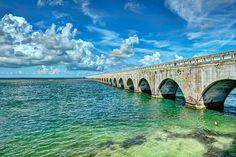 Driving through the Florida Keys