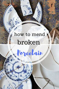 How to Mend Porcelain, How to Fix Broken Dishes. Fixing Broken Dishes, Home Decor, Crafts, Easy Craft Ideas, Simple Craft Ideas, Craft Hacks, Easy DIY Tutorials, Repurpose Projects, Homemade Projects, Popular Pin