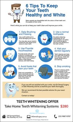 6 Tips To Keep Your Teeth Healthy and Sparkling White ekdentalsurgery.com.au