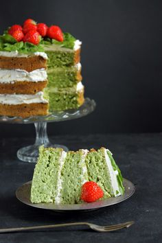 Spinach and Coconut Yogurt Cake