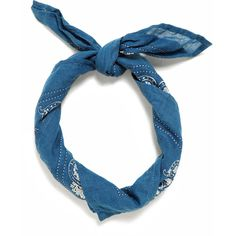 Zara Bandana Scarf (1.040 RUB) ❤ liked on Polyvore featuring accessories, hair, scarves, hair accessories, blue, blue handkerchief and blue bandana