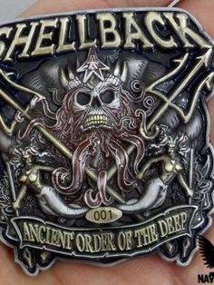 The Shellback Ancient Order of the Deep Coin is for or sailors or Marines that have crossed the line of the globe's. USMC Challenge Coins for sale! Custom Challenge Coins, Military Challenge Coins, Navy Day, Go Navy, Navy Veteran, Military Veterans, Military Humor, Military Quotes, Vietnam Veterans