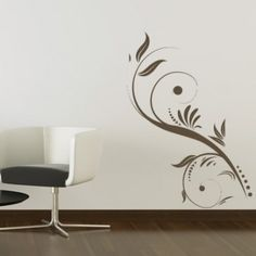 dots and flowers floral embellishment wall stickers wall art decal floral designs floral - Wall Art Design Decals