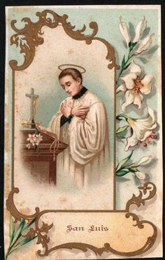 San Luis Gonzaga, Catholic Diocese, St Michael, Virgin Mary, Religion, Antiques, Cards, Painting, Ebay