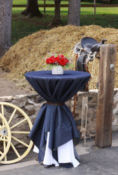 denim and gingham table decor - Google Search