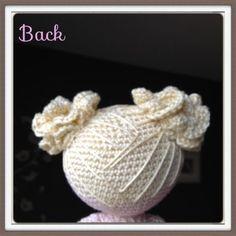 Amigurumi doll hair part 2 - free pattern from Sheila Driesen.