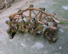 Faery Campfire with Tripod and Cooking Pot Custom by pandorajane