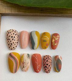Nail Manicure, Diy Nails, Cute Nails, Manicures, Funky Nails, Funky Nail Art, Modern Nails, Minimalist Nails, Pretty Nail Art