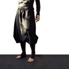 Unisex harem pants black