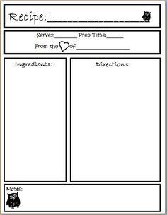 how to create a recipe template