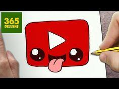 COMMENT DESSINER PASTÈQUES KAWAII ÉTAPE PAR ÉTAPE – Dessins kawaii facile - YouTube