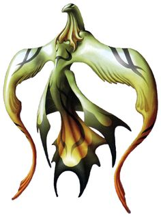 FF8 Quetzacoatl - official final fantasy art from FF 25 Ultimania