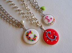 C, C and L Monograms, Washer Necklace, Jewelry, Jewlery, Bijoux, Schmuck, Jewerly, Jewels, Jewelery