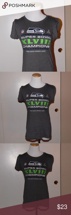 Seattle Seahawks Super Bowl Tee In great condition, perfect for any Seattle Fan Superbowl XLVIII Championship T-Shirt. Nike Tops Tees - Short Sleeve