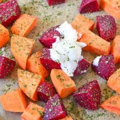 Roasted Sweets and Beets a healthy and delicious side dish for the whole family. This recipe is so good and full of sweetness. Featuring OXO's SNAP glass containers.