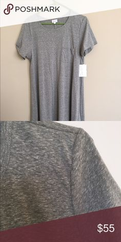 Lularoe L Carly Heathered Green New with tags LuLaRoe Dresses High Low