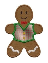 Gingerbread Kids 2 Applique, 2 Styles - 3 Sizes!   Christmas   Machine Embroidery Designs   SWAKembroidery.com Applique for Kids