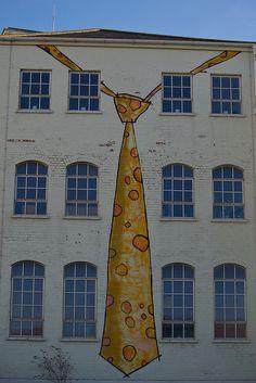 Birmingham street art at the Custard Factory.