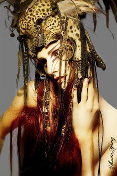 Headdress by Tiffa Novoa;  Model - Malakai (thanks, @Xenira Xtar xtar!)