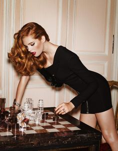 Alexina Graham by Marcus Pummer for Madame Figaro France November 2014 Look Fashion, Fashion Photo, Mode Editorials, Hottest Redheads, Jessica Chastain, Beautiful Redhead, Party Looks, Red Hair, Hair Inspiration