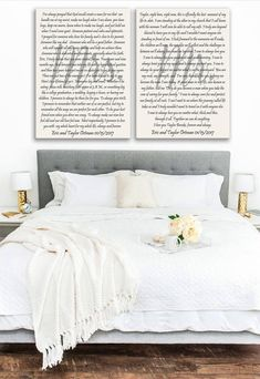 Excited to share the latest addition to my #occanvasstudio shop: Wedding Vows Canvas, His and Hers Vows, Wedding Vows Art, Mrs and Mr print, Personalized Wedding Vows, Wedding vow art, Vows art