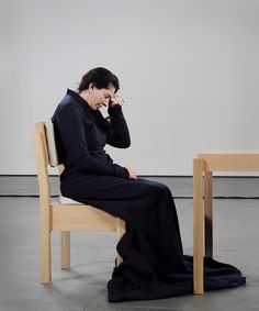 i became mesmerized by marina abramovic's piece (i guess that's what you call it?) where she sat in a chair all day (every day for 2 months or something) and stared at whoever sat across from her. performance art is a strange and interesting world.