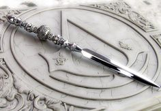 story inspiration: always assess the room for objects that can be used to defend yourself if need be (letter opener)