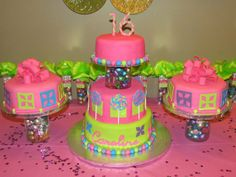 Candy Sweet 16 - Cake inspired by invitations and decorations used. TFL